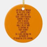 Leukemia Memorial Poem Double-Sided Ceramic Round Christmas Ornament