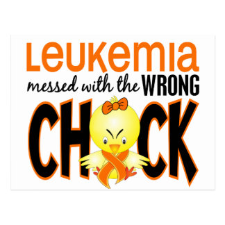 Leukemia Messed With The Wrong Chick Postcard
