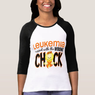Leukemia Messed With The Wrong Chick Tee Shirt