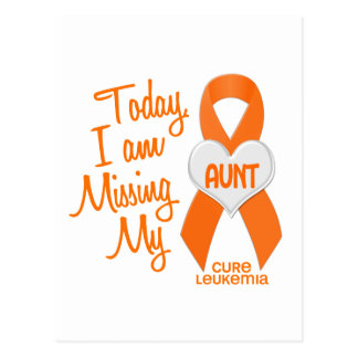 Leukemia Missing My Aunt 1 Postcard