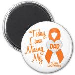 Leukemia Missing My Dad 1 2 Inch Round Magnet