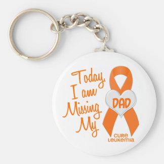 Leukemia Missing My Dad 1 Keychain