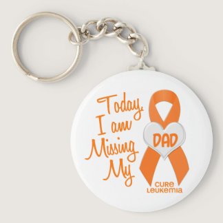 Leukemia Missing My Dad 1 Keychain
