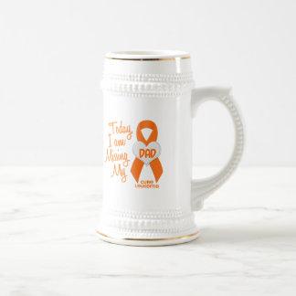 Leukemia Missing My Dad 1 18 Oz Beer Stein