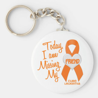 Leukemia Missing My Friend 1 Basic Round Button Keychain