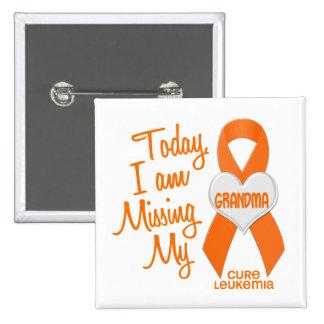 Leukemia Missing My Grandma 1 2 Inch Square Button