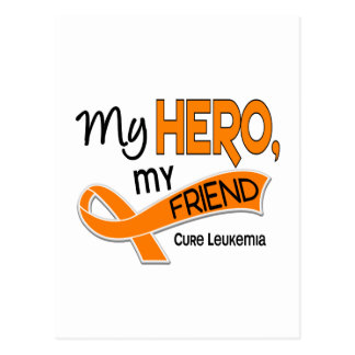 Leukemia MY HERO MY FRIEND 42 Postcard