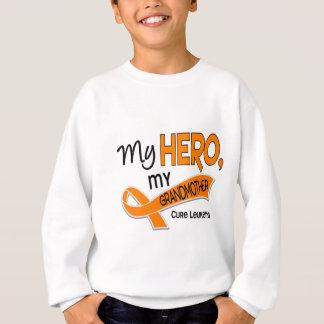Leukemia MY HERO MY GRANDMOTHER 42 Sweatshirt