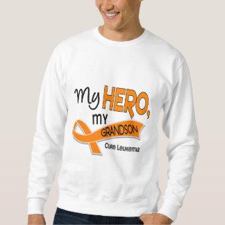 Leukemia MY HERO MY GRANDSON 42 Sweatshirt