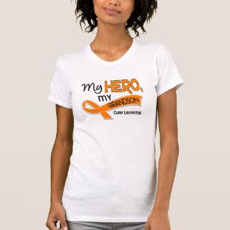 Leukemia MY HERO MY GRANDSON 42 T-Shirt