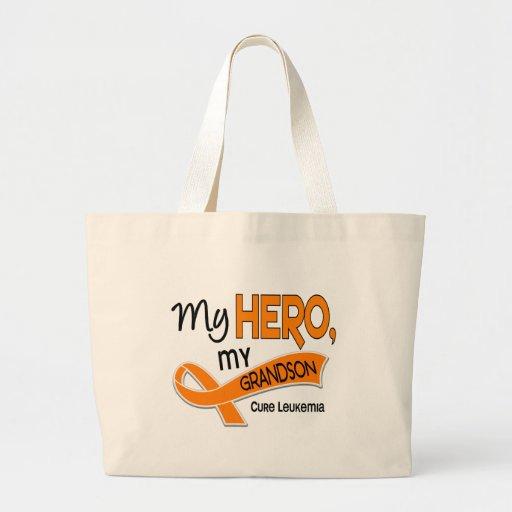 Leukemia MY HERO MY GRANDSON 42 Tote Bags