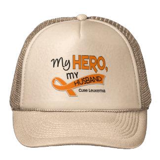 Leukemia MY HERO MY HUSBAND 42 Trucker Hat
