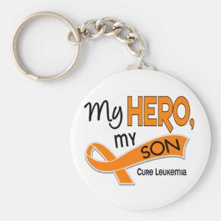 Leukemia MY HERO MY SON 42 Basic Round Button Keychain