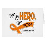 Leukemia MY HERO MY SON 42 Greeting Cards