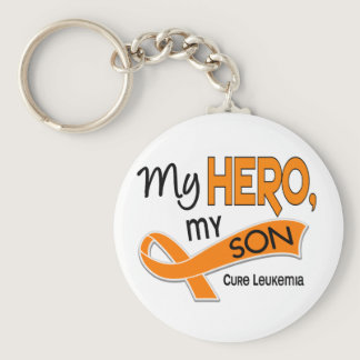 Leukemia MY HERO MY SON 42 Keychain