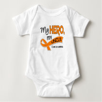 Leukemia MY HERO MY UNCLE 42 Baby Bodysuit