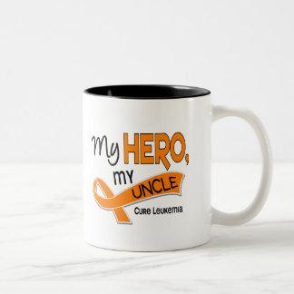 Leukemia MY HERO MY UNCLE 42 Two-Tone Coffee Mug