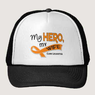 Leukemia MY HERO MY WIFE 42 Trucker Hat