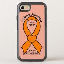 Leukemia Name Awareness Ribbon OtterBox Symmetry iPhone 8/7 Case