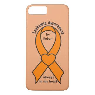 Leukemia Name Customizable Awareness Ribbon iPhone 8 Plus/7 Plus Case