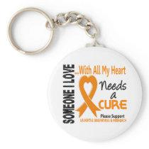 Leukemia Needs A Cure 3 Keychain