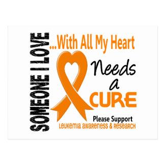 Leukemia Needs A Cure 3 Post Card