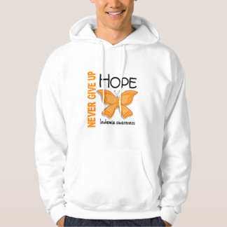 Leukemia Never Give Up Hope Butterfly 4.1 Hoodie