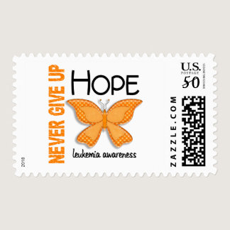 Leukemia Never Give Up Hope Butterfly 4.1 Postage