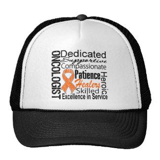 Leukemia Oncologist Collage Trucker Hat