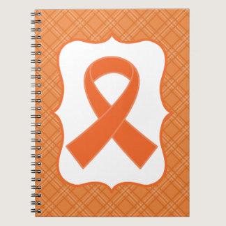 Leukemia or Multiple Sclerosis Orange Ribbon Notebook