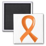 Leukemia Orange Ribbon 3 2 Inch Square Magnet