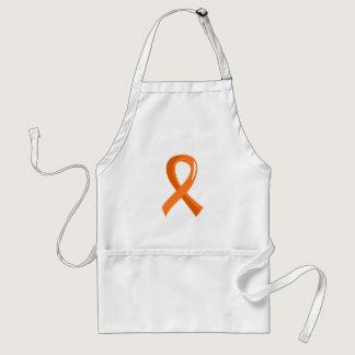Leukemia Orange Ribbon 3 Adult Apron