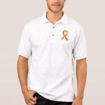 Leukemia Orange Ribbon 3 Polo Shirt