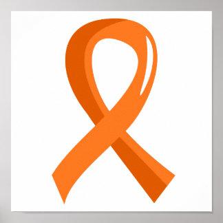 Leukemia Orange Ribbon 3 Poster