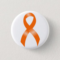 Leukemia Orange Ribbon Button