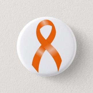 Leukemia Orange Ribbon Button