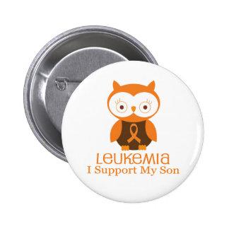 Leukemia Orange Ribbon Button Son