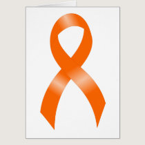 Leukemia Orange Ribbon Card