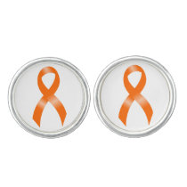 Leukemia Orange Ribbon Cufflinks