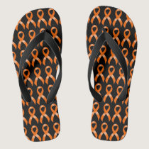 Leukemia Orange Ribbon Flip Flops