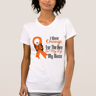 Leukemia Orange Ribbon Hero My Niece T Shirt
