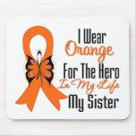 Leukemia Orange Ribbon Hero My Sister Mouse Pad