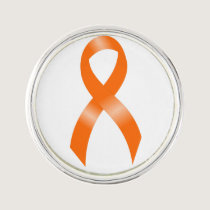 Leukemia Orange Ribbon Lapel Pin