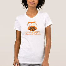 Leukemia Orange Ribbon Owl  Big Brother T-Shirt