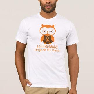 Leukemia Orange Ribbon Owl  Cousin T-Shirt