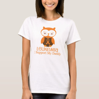 Leukemia Orange Ribbon Owl  Daddy T-Shirt