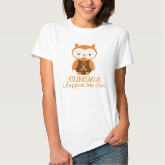 Leukemia Orange Ribbon Owl  Opa Shirt