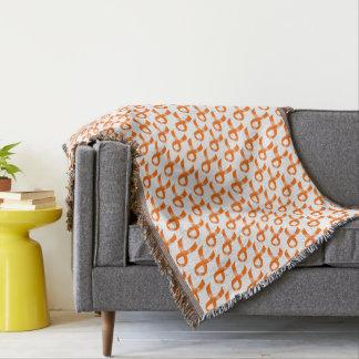Leukemia Orange Ribbon Throw Blanket