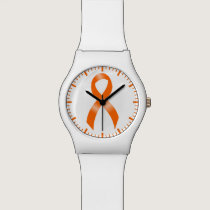 Leukemia Orange Ribbon Watch