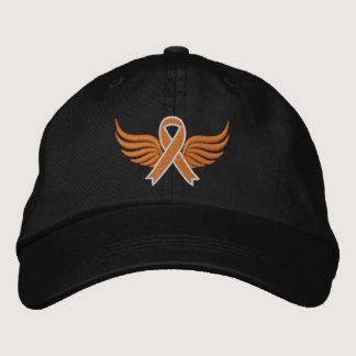 Leukemia Orange Ribbon Wings Baseball Cap